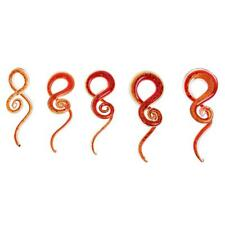 Red Spiral Flesh Tunnel Ear Stretcher Expander Stretching Plug Piercing