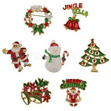 Mixed Styles Brooch Pin Decoration for Xmas Christmas Party Favor Gifts