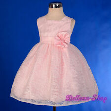 Lace Floral Party Pageant Wedding Flower Girl Dress Size Baby 9m - Toddler 4 276