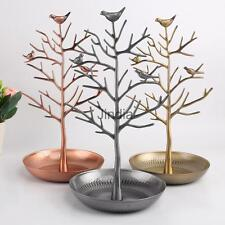 Vintage Retro Bird Tree Earrings Bracelet Jewelry Holder Display Show Stand Rack