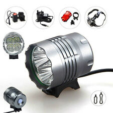 4X CREE 5200LM XML T6 Front Head LED Bicycle Lamp Bike Light Headlamp Headlight