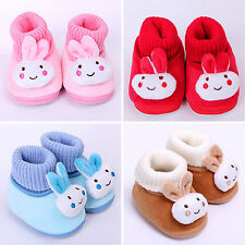 Infant Baby Toddler Boy Girls Rabbit Warm Snow Boots Crib Shoes Prewalkers 0-18M