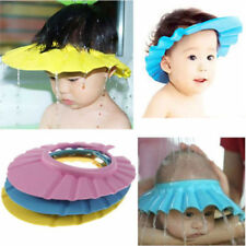 NEW Baby Shower Shield Hat Shampoo Bathing Shower Cap Hat Wash Hair Shield BN