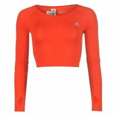 adidas Ladies TF Crop Top Long Sleeve Practicing Sport Active Athletic Clothing