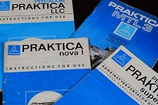 ORIGINAL PRAKTICA CAMERA INSTRUCTION MANUAL noval I MTL3 LLC super TL =SEE LIST=