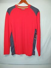 NWT Chaps Sport Red and Navy Blue Accent  Men's Athletic Shirt