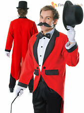 Mens Ringmaster Costume Adult Circus Fancy Dress Male Lion Tamer Outfit Stag