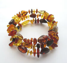 Natural Baltic Amber Wrap Bracelet ( suitable for any wrist size )