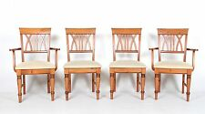 4 Ducal Pine Dining Chairs Carvers Set of Four