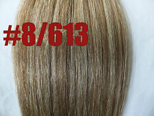 16''~26'' 60'' Wide 150g Weft Hair Weaving 100%Real Human Hair Extensions #8/613