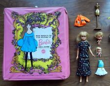 Vtg 1967 Skipper Twist N Turn Barbie Japan + Case + 2 Little Kiddles & Clothes !