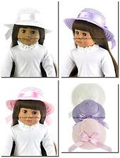 Lavender Or Pink Ribbon Straw Hat Doll Clothes Made For 18 in American Girl Doll
