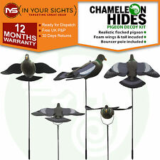 Ultimate pigeon shooting flocked decoy with bouncer pole / Pigeon decoy & poles