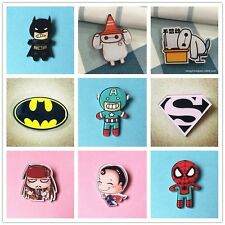 New Marvel Heroes Badge Jeans Decor Acrylic Brooch Children/Girl Clothes Badge D