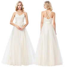 Champagne Sexy Formal Cocktail Gown Evening Party Wedding Prom Gown Long Dress