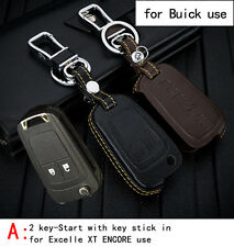 Genuine Leather CAR KEY CASE For BUICK EXCELLE XT ENCORE LACROSSE OLD GL8 VERANO