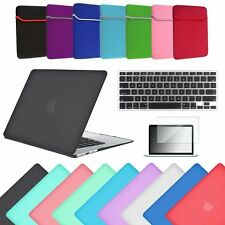 "4in1 Rubberized Hard Case+Key Skin+LCD+Sleeve For Macbook AIR 13"" PRO 13 Retina"