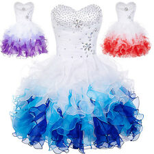 Blue Cocktail Corset Party Homecoming Formal Bridesmaid Prom Short Tutu Dress 4