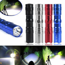 3W Super Bright LED Lamp With Clip Clamp AA Police Flashlight Focus Torch Light