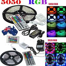 5050/3528 RGB 5M SMD LED Strip Flexible Light +Key IR Controller  Power Adapter