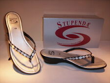 Sandals flip-flops Stupenda woman shoes women slippers silver new 36