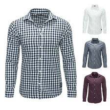 Jack & Jones Men's Long Sleeved Shirt Checked Shirt Business Casual Color NEW