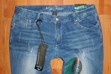 Nwt ARIYA Juniors Low Rise Flare Leg Distressed CURVY Jeans