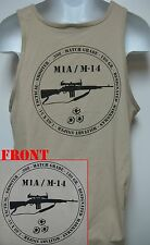M14/ M1A TANK TOP / MILITARY/  TAN COLOR/     NEW