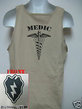 25th I.D. TANK TOP/ T-SHIRT/ MEDIC/ COMBAT / MILITARY TAN / ARMY / NEW