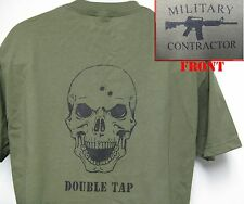 PRIVATE MILITARY CONTRACTOR T-SHIRT/ SKULL/ DOUBLE TAP