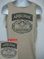 AIRBORNE COMBAT MEDIC TAN TANK TOP/ MILITARY/ ARMY MEDIC/ NEW