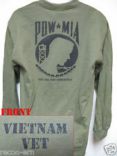 VIETNAM VETERAN/ MIA POW/ LONG SLEEVE T-SHIRT/ MILITARY/  NEW