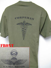 USMC RECON T-SHIRT/ NAVY CORPSMAN T-SHIRT/  NEW