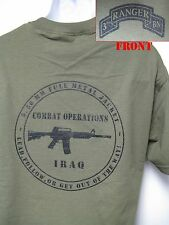 3RD RANGER BN T-SHIRT/ MILITARY/ IRAQ COMBAT OPS/ ARMY/ NEW