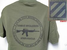 3RD ID T-SHIRT/ AFGHANISTAN COMBAT OPS/ MILITARY T-SHIRT/ ARMY/  NEW