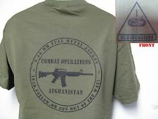 1ST ARMORED DIV T-SHIRT/ AFGHANISTAN COMBAT OPS/ MILITARY T-SHIRT/ ARMY/  NEW