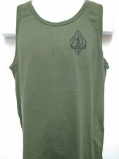 1ST RECON BN OD GREEN TANK TOP/ front print only/USMC RECON/ MILITARY T-SHIRT/