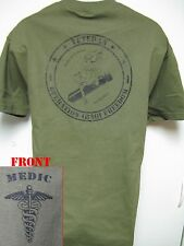 ARMY MEDIC - IRAQ VETERAN T-SHIRT/ NOSE ART/BIKE/HOT ROD/ SERVED WITH HONOR/ NEW