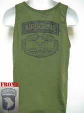 101ST AIRBORNE COMBAT MEDIC BADGE TANK TOP/ OD GREEN/ T-SHIRT/ MILITARY/ ARMY/