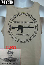 USMC FORCE RECON TANK TOP/ MCD/ AFGHANISTAN COMBAT OPS / MARINES/ MILITARY