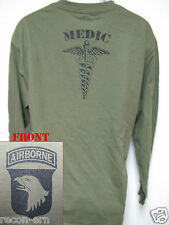 101 AIRBORNE LONG SLEEVE T-SHIRT/ MEDIC/ COMBAT / MILITARY/ ARMY / NEW