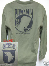 101 AIRBORNE LONG SLEEVE T-SHIRT/ POW MIA / MILITARY/ ARMY / NEW