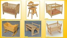 1:12 scale dolls house miniature selection of  barewood  nursery items 6 choose.
