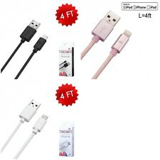 MFi Lightning Sync Charger Charging Cable Cord 4FT Premium Quality For iPhone