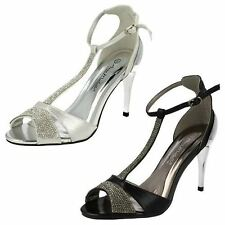 Ladies Anne Michelle Diamante Sandals F10279 Style ~ K
