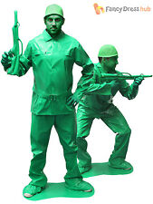Adults Top Soldier Costume Mens Saving Private Morph Fancy Dress Army  Morphsuit