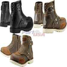 Icon El Bajo Boot Sport Riding Leather Solid