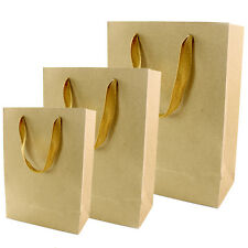 Kraft Paper Bag Party Wedding Favour Small Gift Shopping Food Carry Retail Bags