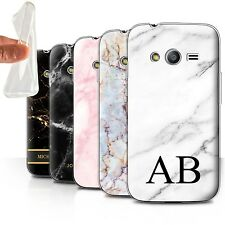 Personalised Marble Gel Case for Samsung Galaxy Trend 2 Lite/G318/Initial Cover