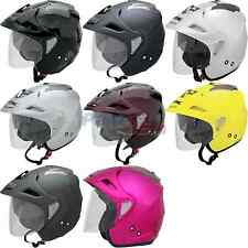 AFX FX-50 Helmet Open Face Scooter/Motorcycle Street Solid DOT/ECE 22-05